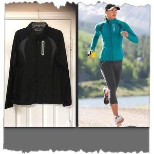 Athleta Prevail Black Reflective Surface Jacket